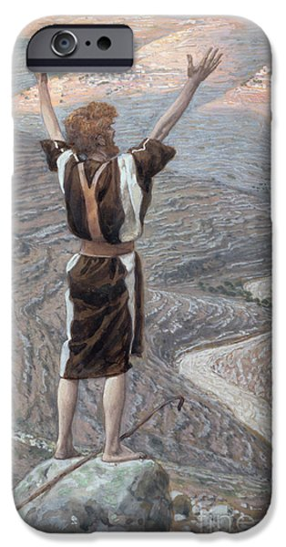 Figure iPhone Cases - The Voice in the Desert iPhone Case by Tissot