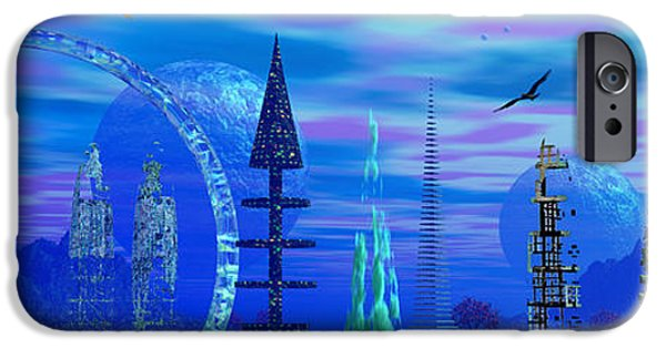 Moonscape iPhone Cases - The Voorg Of Vyrgg iPhone Case by Mark Blauhoefer