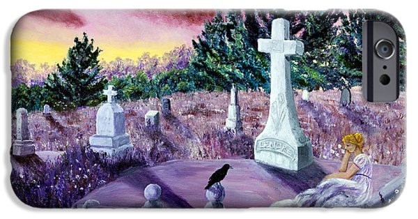 Crows iPhone Cases - The Waning Light iPhone Case by Laura Iverson
