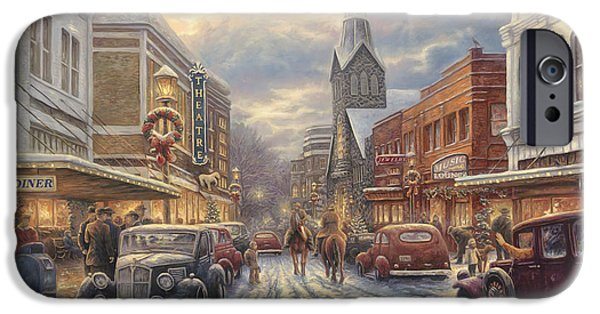 Wonderful iPhone Cases - The Warmth of Small Town Living iPhone Case by Chuck Pinson