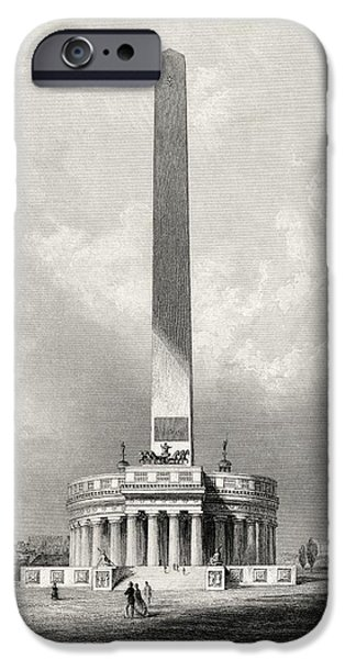 First Black President Drawings iPhone Cases - The Washington National Monument iPhone Case by Ken Welsh