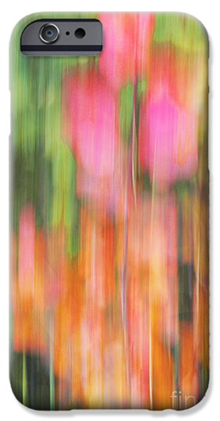 Impressionist Photography iPhone Cases - The Watercolor garden iPhone Case by Aimelle