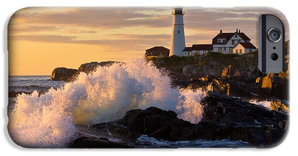 New England Lighthouse iPhone Cases - The Wave iPhone Case by Benjamin Williamson