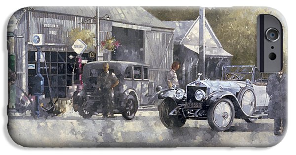 Gas Paintings iPhone Cases - The Way We Were iPhone Case by Peter Miller