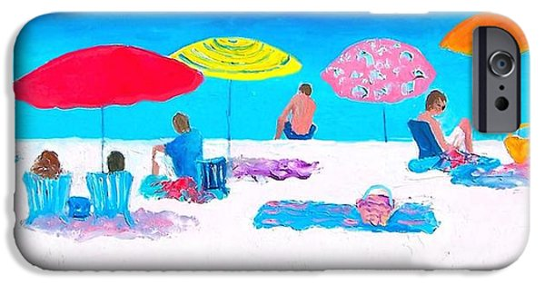 Beach Towel iPhone Cases - The weather is sweet iPhone Case by Jan Matson