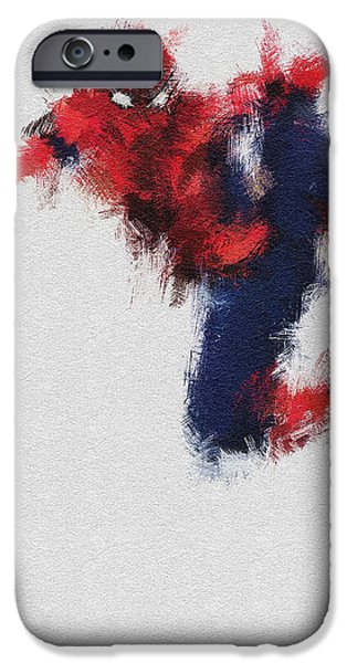 Young Digital Art iPhone Cases - The Web iPhone Case by Miranda Sether
