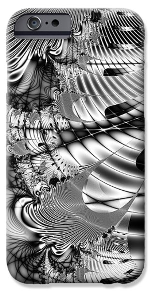 Fractals Fractal Digital Art iPhone Cases - The Web We Weave iPhone Case by Wingsdomain Art and Photography