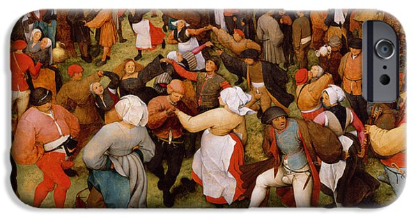 Outside iPhone Cases - The Wedding Dance iPhone Case by Pieter the Elder Bruegel