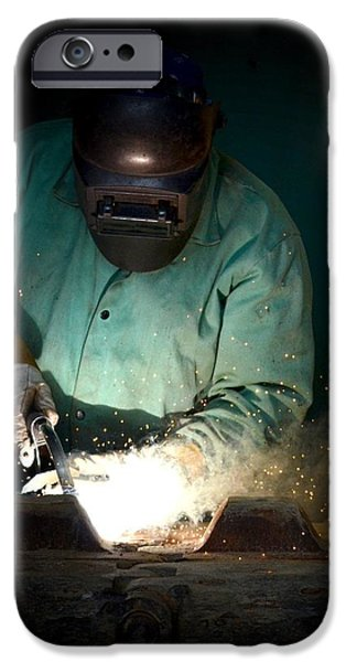 Industry iPhone Cases - The Welder iPhone Case by Maria Urso