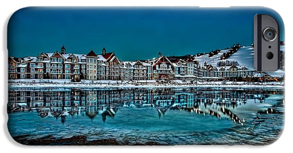 Beauty Mark iPhone Cases - The Westin on Ice iPhone Case by Jeff S PhotoArt
