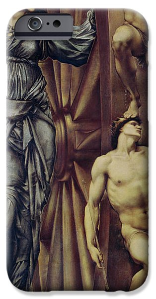 Punishment iPhone Cases - The Wheel of Fortune iPhone Case by Sir Edward Burne Jones