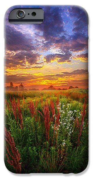 Floral Photographs iPhone Cases - The Whispered Voice Within iPhone Case by Phil Koch