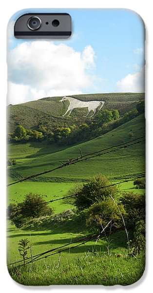 The White Horse Westbury England iPhone Case by Kurt Van Wagner