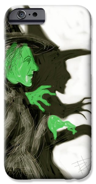 Green Witch iPhone Cases - The Wicked Witch iPhone Case by Russell Pierce