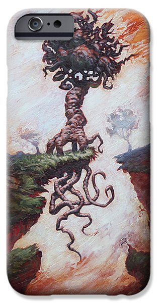 Eerie Paintings iPhone Cases - The Wild Reasoning  iPhone Case by Ethan Harris