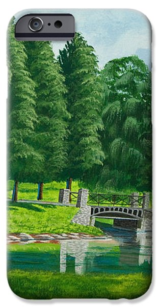 The Willow Path iPhone Case by Charlotte Blanchard