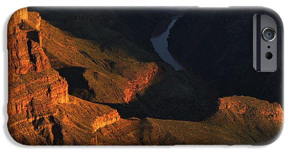 Grand Canyon iPhone Cases - The Winding Colorado iPhone Case by Stephen  Vecchiotti