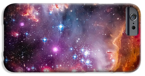 Stellar iPhone Cases - The Wing Of The Small Magellanic Cloud iPhone Case by Marco Oliveira