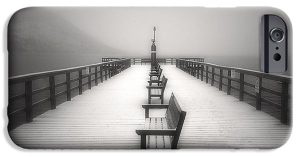 Monotone iPhone Cases - The Winter Pier iPhone Case by Tara Turner