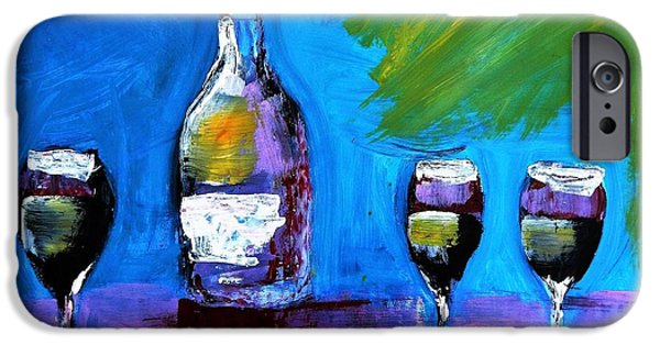 Wine Bottles iPhone Cases - The Wisecracker iPhone Case by Lisa Kaiser