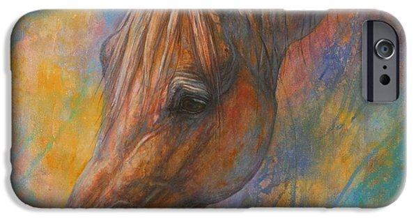 Horse Artist iPhone Cases - The Wish iPhone Case by Silvana Gabudean