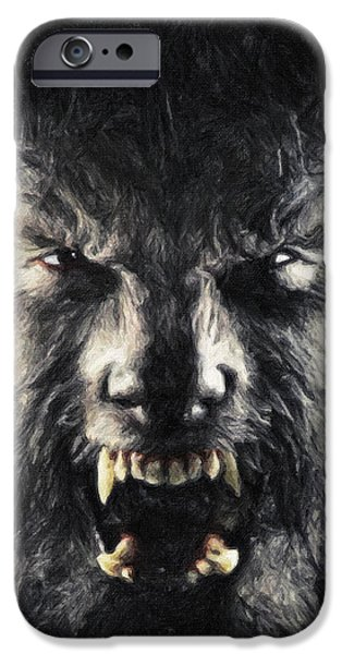 Coyote Art iPhone Cases - The Wolfman iPhone Case by Taylan Soyturk