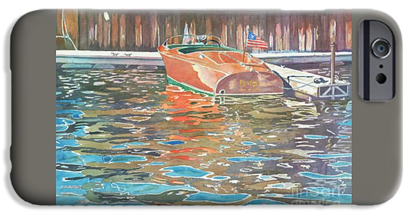 Chicago Paintings iPhone Cases - The Wooden Boat iPhone Case by LeAnne Sowa