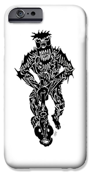 Abstract Digital Drawings iPhone Cases - The Woodsman iPhone Case by AR Teeter