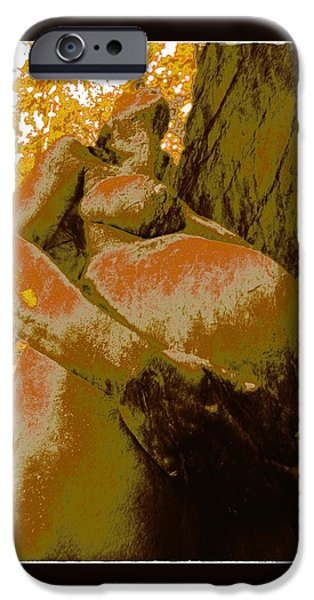 The Tiger iPhone Cases - The World in my Hands iPhone Case by Jean-Marie Bottequin