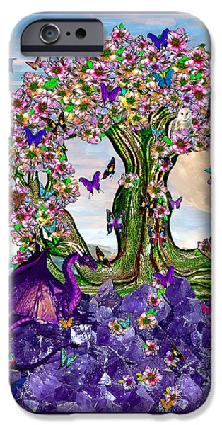 Child iPhone Cases - The World Tree Spring Equinox Dragons iPhone Case by Michele  Avanti