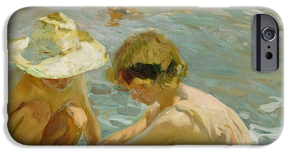 Sand Castles iPhone Cases - The Wounded Foot iPhone Case by Joaquin Sorolla y Bastida