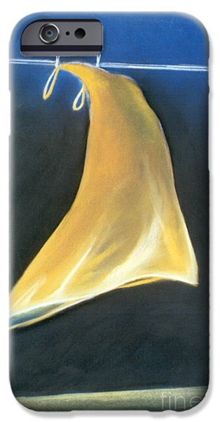 Dark Skies Pastels iPhone Cases - The Yellow Dress iPhone Case by Caroline Peacock