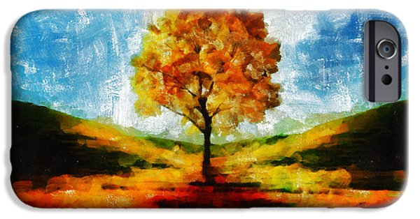 D.c. iPhone Cases - The Yellow Tree - A Nest For Goddess And God iPhone Case by Sir Josef  Putsche