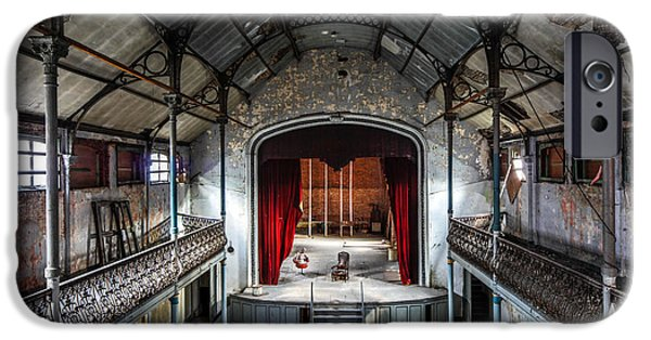 Haunted House iPhone Cases - Theatre Scene And Balcony - Urban Decay iPhone Case by Dirk Ercken