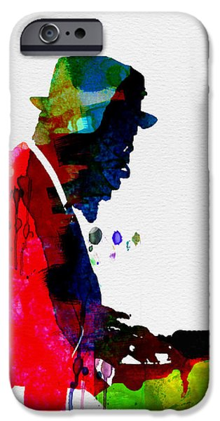 Gig iPhone Cases - Thelonious Watercolor iPhone Case by Naxart Studio
