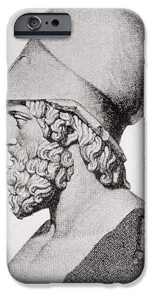 Politician iPhone Cases - Themistocles C. 524 To 459 Bc. Athenian iPhone Case by Ken Welsh