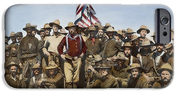 Old Glory iPhone Cases - Theodore Roosevelt, 1898 iPhone Case by Granger
