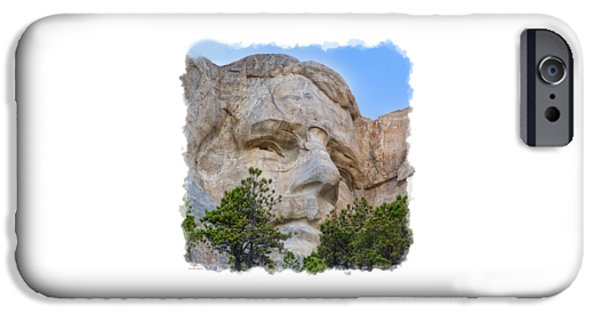 Lincoln iPhone Cases - Theodore Roosevelt 3 iPhone Case by John Bailey