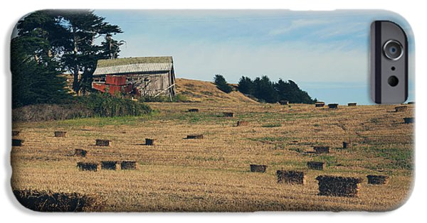 Hay Bales iPhone Cases - There All Along iPhone Case by Laurie Search