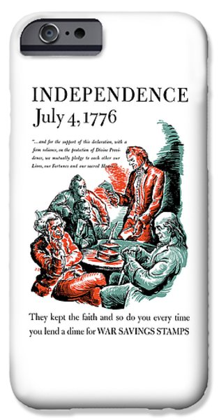 4th July Mixed Media iPhone Cases - They Kept The Faith - WW2 iPhone Case by War Is Hell Store