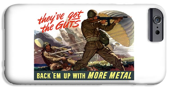 World Wars iPhone Cases - Theyve Got The Guts iPhone Case by War Is Hell Store