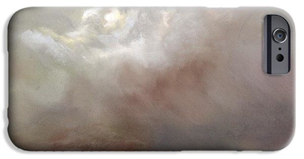 Clouds Pastels iPhone Cases - Things Are About to Change iPhone Case by Frances Marino