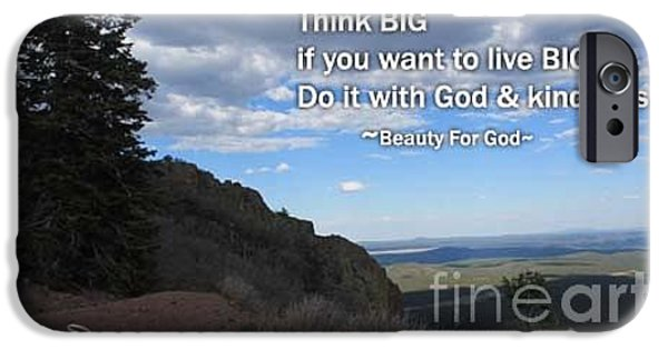 Thinking iPhone Cases - Think Big iPhone Case by Beauty For God