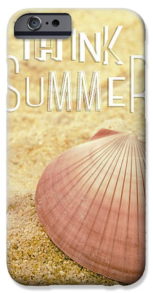 Sea iPhone Cases - Think Summer Pink iPhone Case by Marianne Campolongo