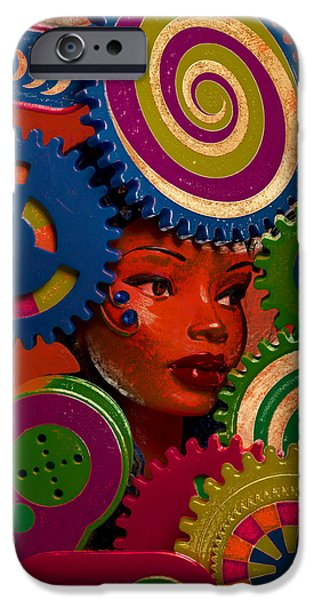 Green Surreal Geometric iPhone Cases - Thinking Cap iPhone Case by Jeff  Gettis