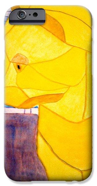 Mosaic iPhone Cases - Thinking iPhone Case by Eileen Tascioglu