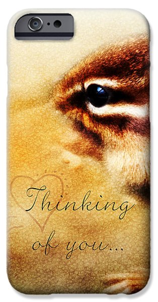 Thinking iPhone Cases - Thinking of You iPhone Case by Anita Faye