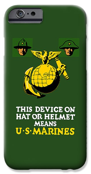 Marine iPhone Cases - This Device Means US Marines  iPhone Case by War Is Hell Store