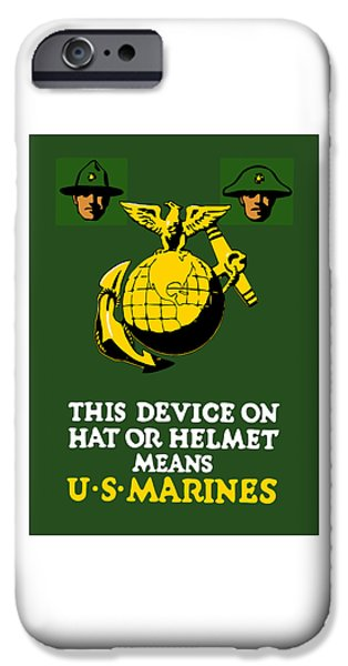 Vet iPhone Cases - This Device Means US Marines  iPhone Case by War Is Hell Store
