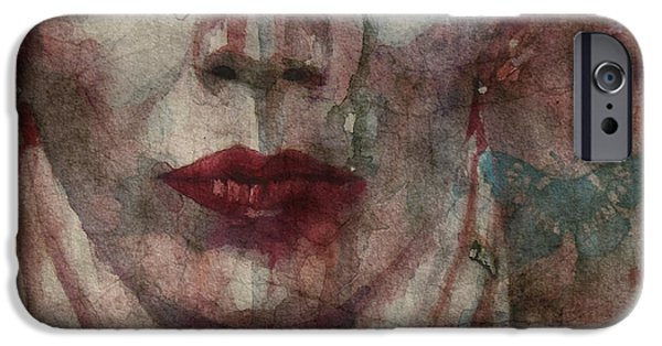 Watercolour Portrait iPhone Cases - This Is Fear This Is Dread These Are The Contents Of My Head @2 iPhone Case by Paul Lovering